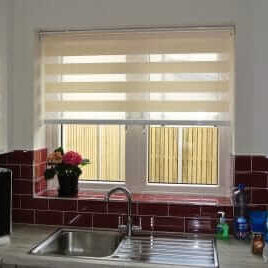 Black Double Day Night Blinds