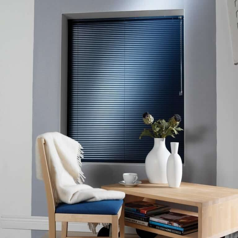Dark Aluminum Venetian Blinds